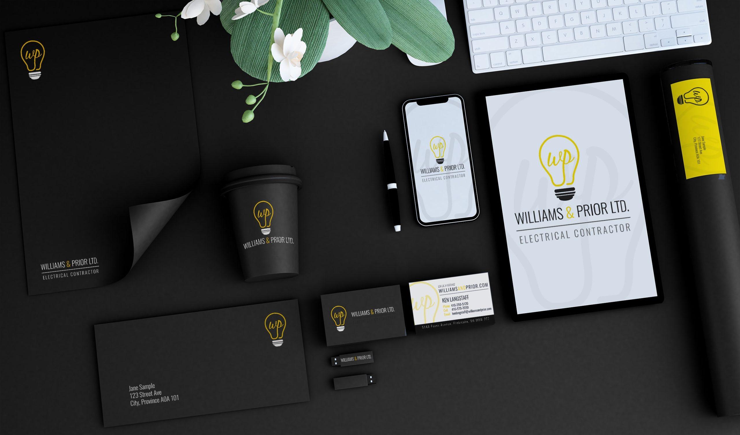 Brand Identity Design for Williams and Prior Elecrician
